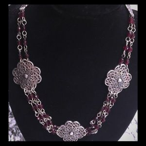 💕BRIGHTON GARNET CONCHO NECKLACE